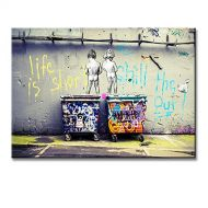 2f7cf5b7e ART Banksy Life Is Short Chill The Duck Out-Kids With Dustbin Street Wall  Artworks