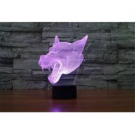 0410665a8 ATD LED Color Gradual Change Langtou Acrylic Table Light,Werewolf 3D  Amazing Visualization Illusion Desk