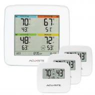 3922a3f89da3f1 AcuRite 01095M Indoor Temperature & Humidity Station with 3 Sensors