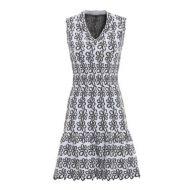 61ed23c0 Alaia Astragale jacquard sleeveless dress