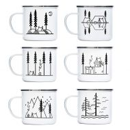 Camp Noggin | Classic Series | Enamel Camping Coffee Mug (15 Ounces) | 6 Unique Designs | Pick Your Favorite, or Collect The Set!