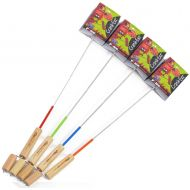 Firebuggz Four Pack Crank-EEZ from Premium SMores Sticks for Fire Pit Campfires Cooking Fun for Children